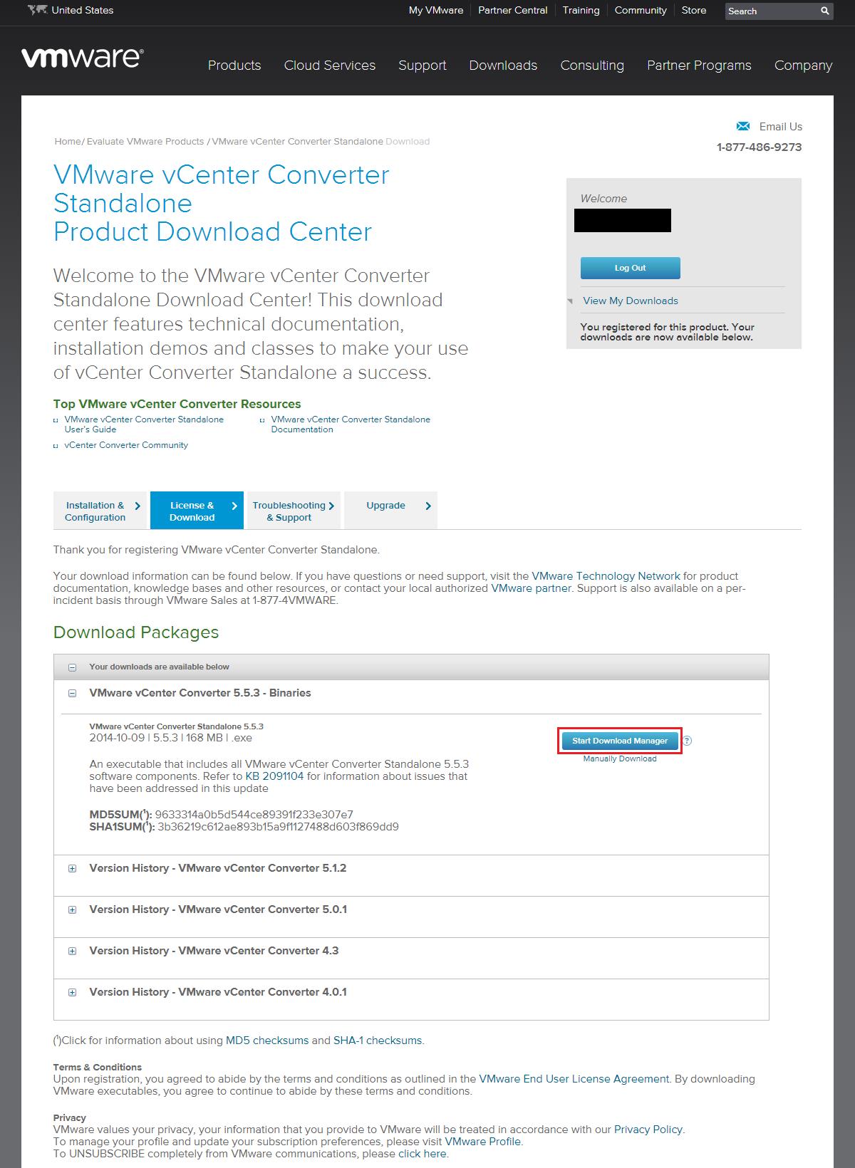 VMware vCenter Converter Standaloneダウンロード10