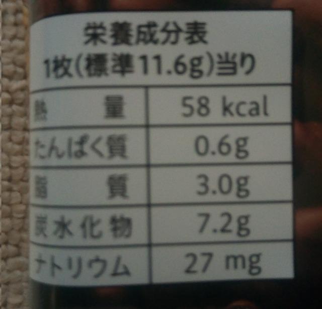 カントリーマアム 大人のココア栄養成分