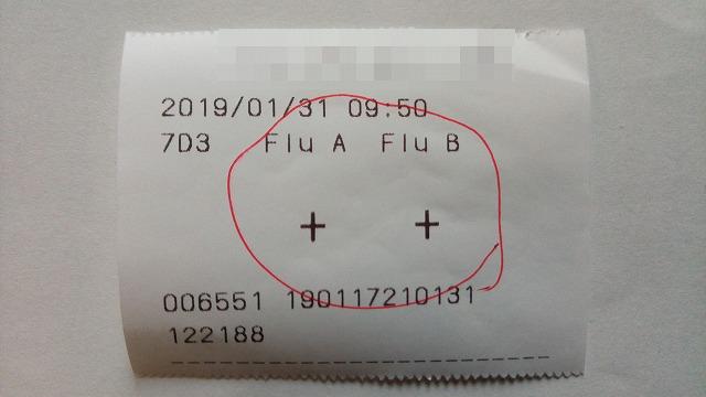 インフルエンザAB検査結果