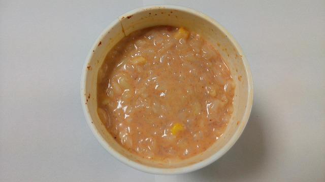 チリトマトヌードルチーズ&牛乳残り汁ごはん4