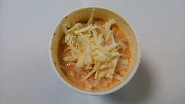 チリトマトヌードルチーズ&牛乳残り汁ごはん3