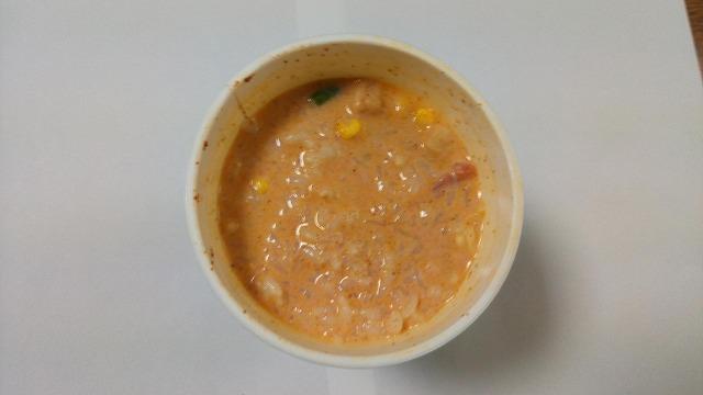 チリトマトヌードルチーズ&牛乳残り汁ごはん2