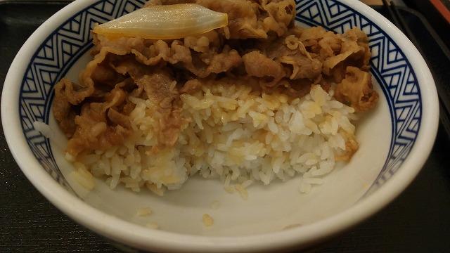 吉野家牛丼並汁ぬき2